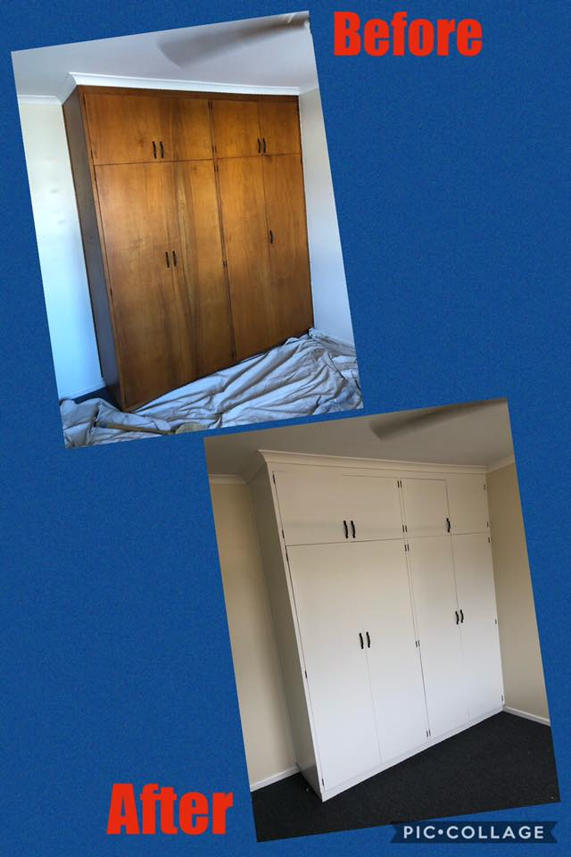 painting timber cupboards